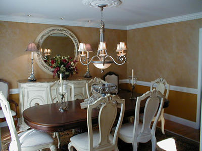 Dining Room Walls Faux Marble Earth Tone